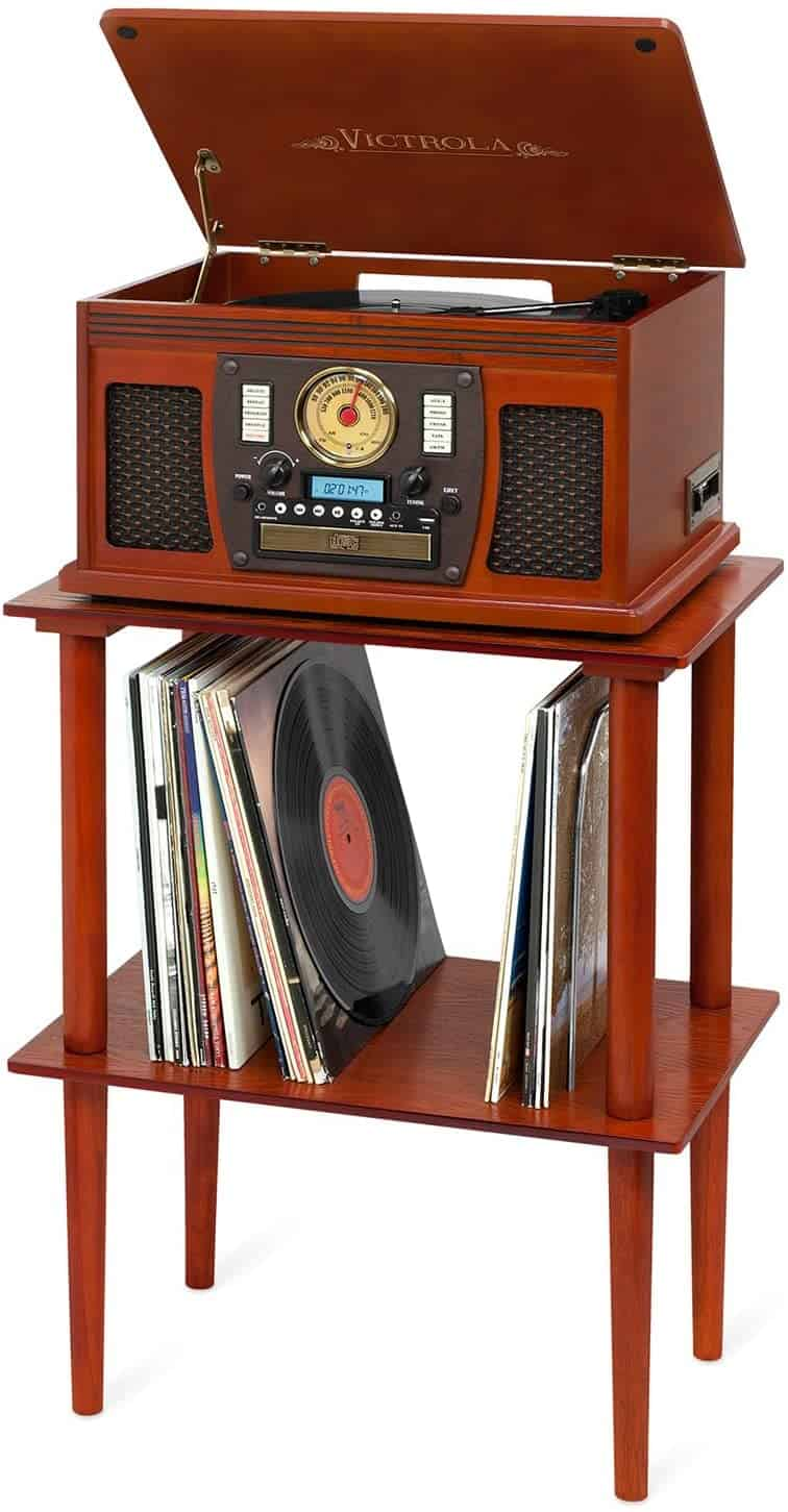 Victrola Wooden Record Player Stand